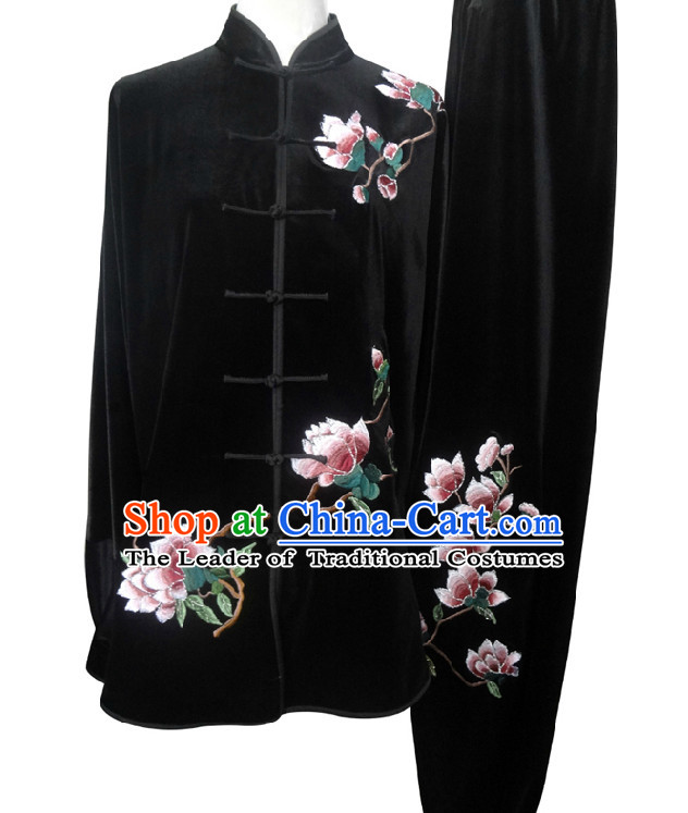 Top Flower Embroidery Kung Fu Martial Arts Taekwondo Karate Uniform Suppliers Clothing Dress Costumes Clothes for Men Women Adults Boys Girls Kids