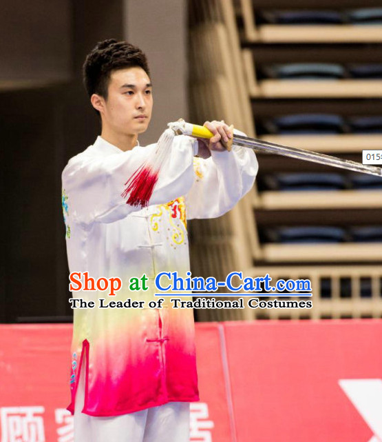 Tai Chi Swords Taiji Tai Ji Sword Martial Arts Supplies Chi Gong Qi Gong Kung Fu Kungfu Uniform Clothing Costume Suits Uniforms for Men and Boys