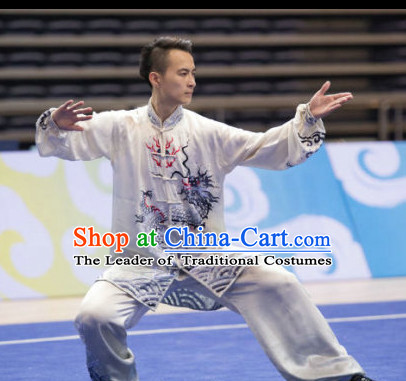 Top Tai Chi Sword Competition Outfit Wushu Contest Jacket Pants Supplies Custom Kung Fu Costume Wu Shu Clothing Martial Arts Costumes for Men Women Kids Boys Girls