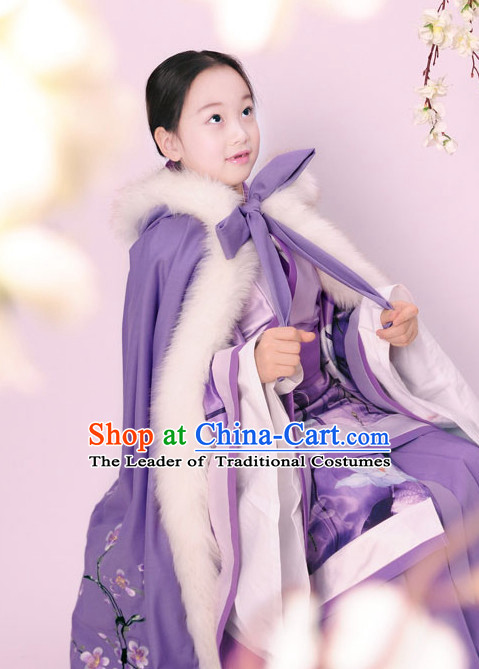 Ancient Chinese Little Princess Winter Mantle Cape