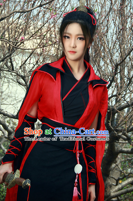 Chinese Costume Ancient China Dress Classic Garment Suits Knight Cosplay Clothes Clothing Complete Set for Men or Women