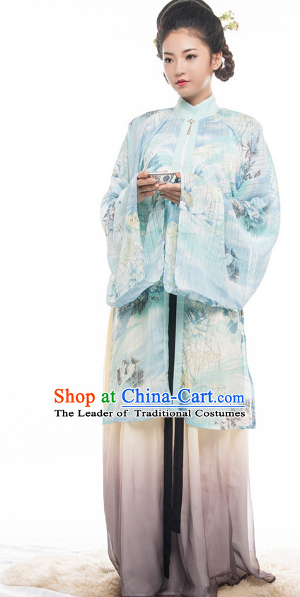 Chinese Costume Ancient Chinese Costumes Japanese Korean Asian Fashion Ming Dynasty Han Fu Suits Outfits Garment Dress Clothes for Women