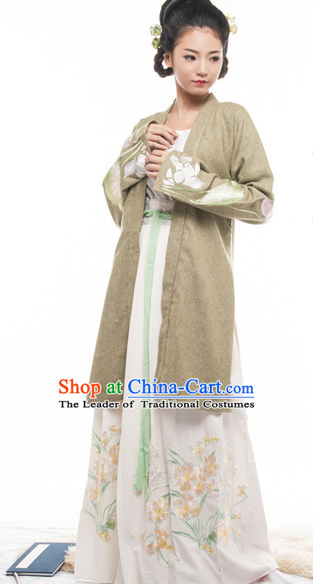 Chinese Costume Ancient Chinese Costumes Japanese Korean Asian Fashion Song Dynasty Han Fu Suits Outfits Garment Dress Clothes for Women