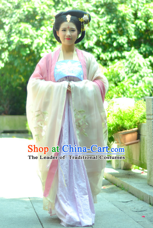 Chinese Costume Ancient Chinese Costumes Japanese Korean Asian Fashion Tang Dynasty Han Fu Suits Outfits Garment Dress Clothes for Women