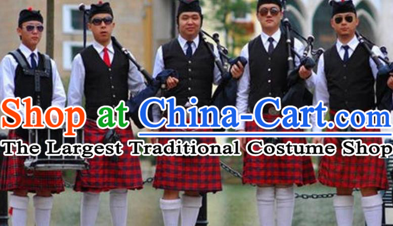 England Folk Dance Costume Traditional Garment Classic Clothing Complete Set for Men