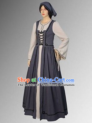 Traditional Medieval Costume Renaissance Costumes Historic Farmer Clothing Complete Set