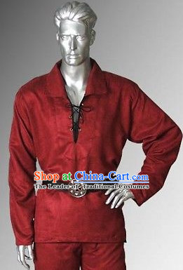 Traditional Medieval Costume Renaissance Costumes Historic Pirate Clothing Complete Set for Men