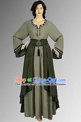 Traditional Medieval Costume Renaissance Costumes Historic Farmer Clothing Complete Set for Women