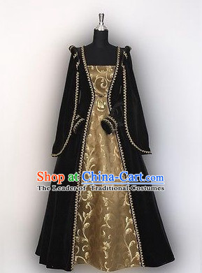 Traditional Medieval Costume Renaissance Costumes Historic Imperial Palace Princess Queen Clothing Complete Set for Women