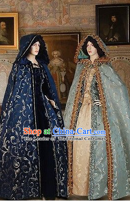Traditional British National Costume Medieval Costume Renaissance Costumes Historic Dresses Complete Set for Women