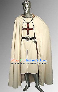 Traditional British National Costume Medieval Costume Renaissance Costumes Historic Clothes Complete Set for Men