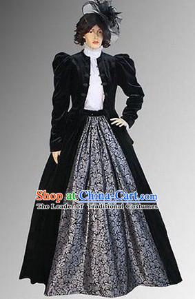 Traditional British National Costume Medieval Costume Renaissance Costumes Historic Clothes Complete Set