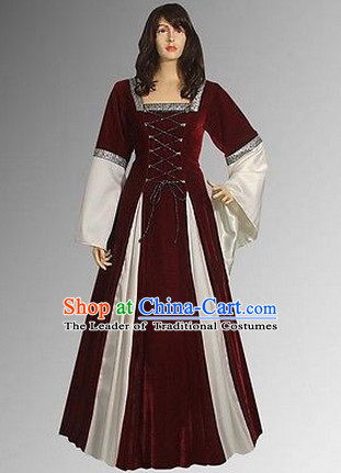 Traditional UK British National Costume Medieval Costume Renaissance Costumes Historic Clothes Complete Set