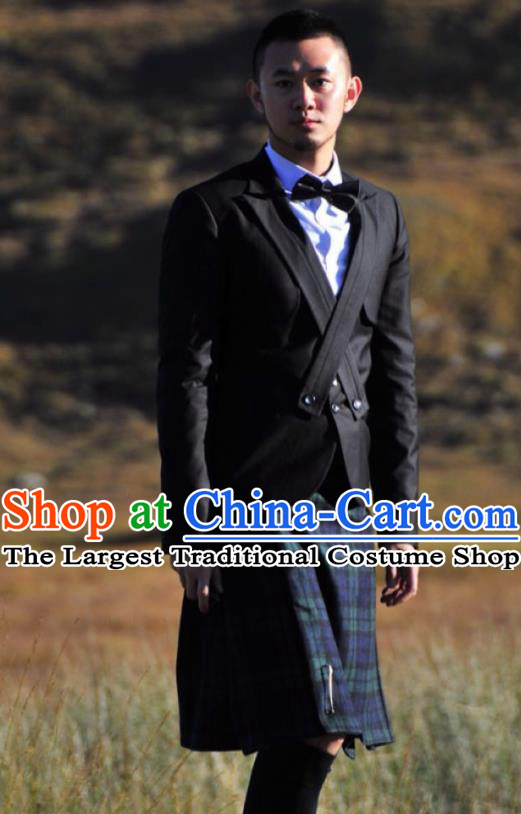 Traditional Scottish Skirt Skirts Dress British National Costumes Complete Set for Men