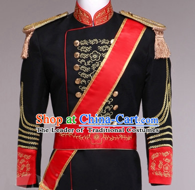 Traditional European Palace Prince Clothing Uniform British National Costumes Complete Set for Men and Boys