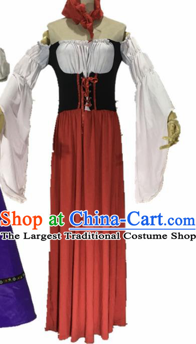Ancient Medieval Costumes Kids Adults Halloween Costume for Women and Girls