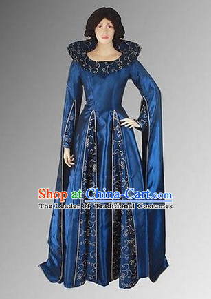 Ancient Medieval Costumes Renaissance Royal Noblewoman Costume Dresses Complete Set for Women Girls Adults Kids