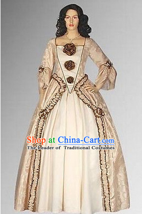 Ancient Baroque Style Garment Dresses Complete Set for Women Girls Adults Kids