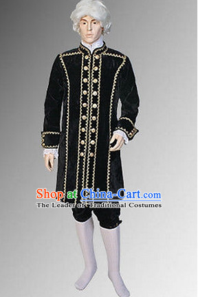 Ancient Baroque Period Clothing Suit Historic Costume Complete Set for Men