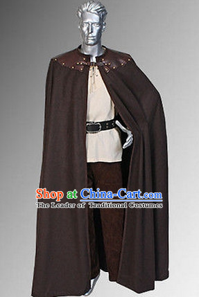 Classic Renaissance Costumes Medieval Costume Cape Mantle Complete Set for Men