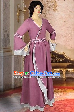 Tradtiional Medieval Costume Renaissance Costumes Historic Farmer Clothing Complete Set