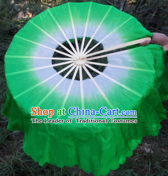 360 Degree Pure Silk Dance Fan