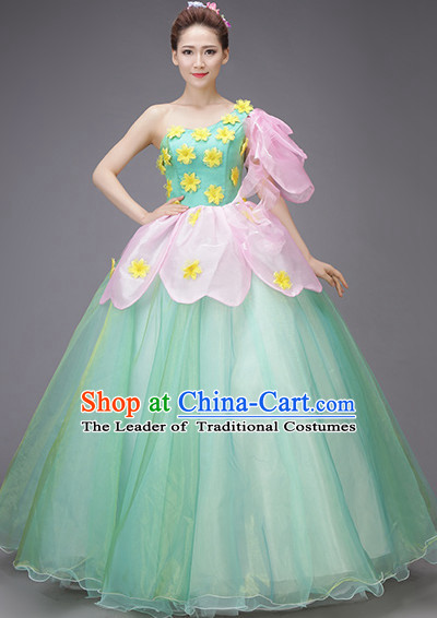 Chinese New Year Dancing Costume Opening Dance Festival Parade Costumes and Hair Accessories Complete Set