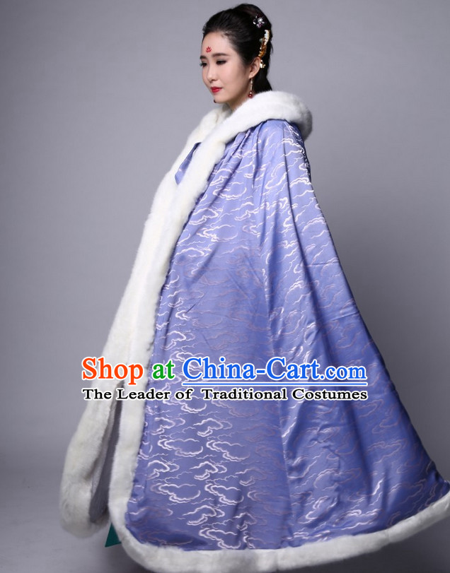 Chinese Classic Purple Winter Mantle for Women