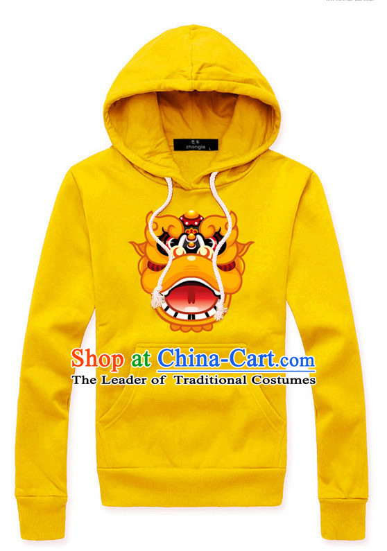 Special Design Lion Dancer Dragon Dancer Hoodie Uniform Costumes Dance Costume Outfits and Head Bands Complete Set for Men or Women