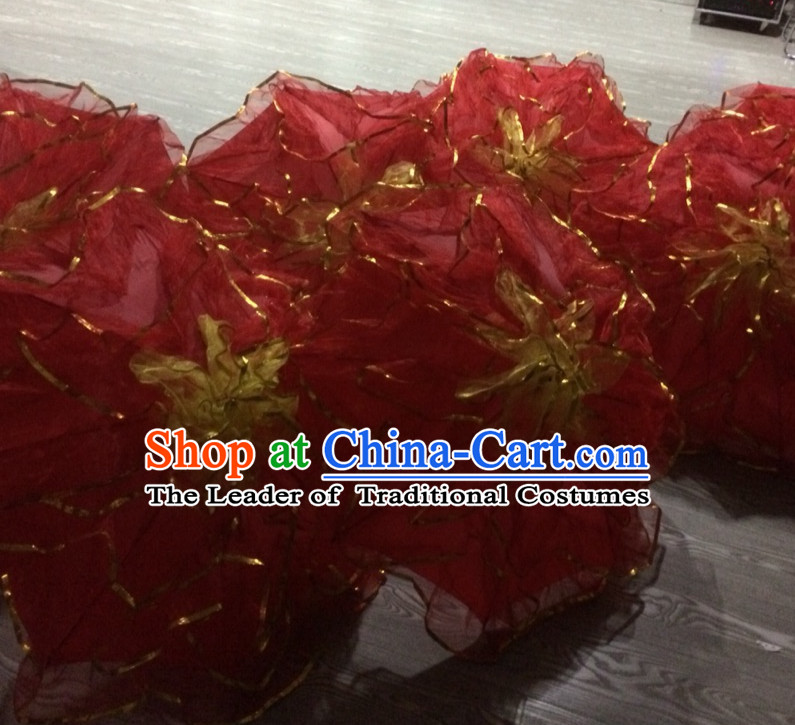 Red Traditional Peony Flower Dance Umbrella Dancing Umbrellas