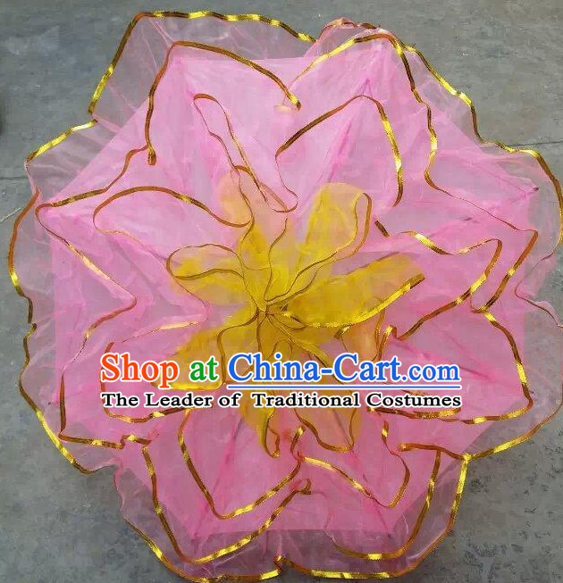 Pink Traditional Peony Flower Dance Umbrella Dancing Umbrellas