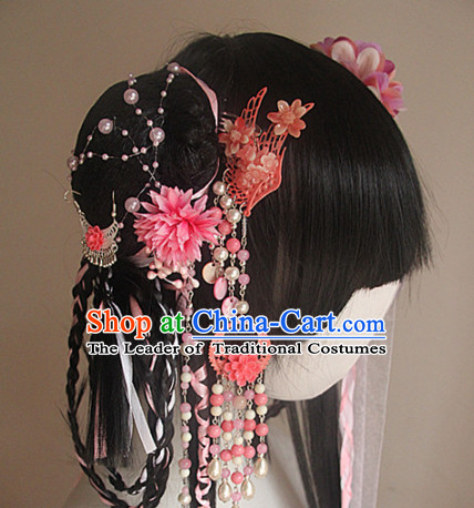 Ancient Chinese Wigs Toupee Wigs Human Hair Wig Hair Extensions Sisters Weave Cosplay Wigs Lace Hair Pieces and Accessories for Women