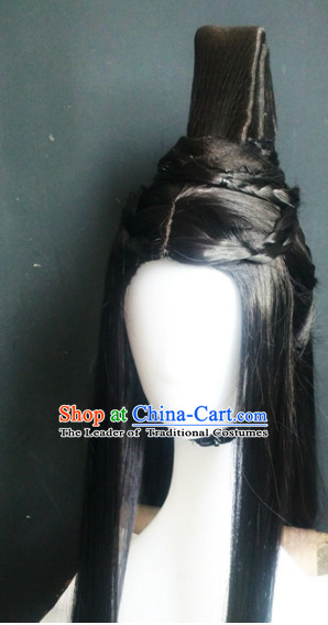 Ancient Chinese Male Wigs Toupee Wigs Human Hair Wig Hair Extensions Sisters Weave Cosplay Wigs Lace Hair Pieces and Accessories for Men