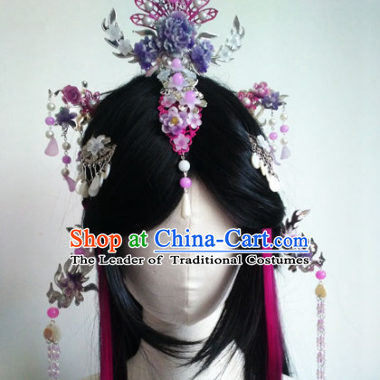 Ancient Chinese Queen Wigs Toupee Wigs Human Hair Wig Hair Extensions Sisters Weave Cosplay Wigs Lace Hair Pieces for Women