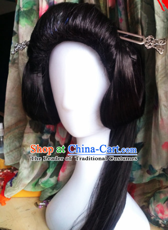 Ancient Chinese Lady Wigs Toupee Wigs Human Hair Wig Hair Extensions Sisters Weave Cosplay Wigs Lace Hair Accessories for Women