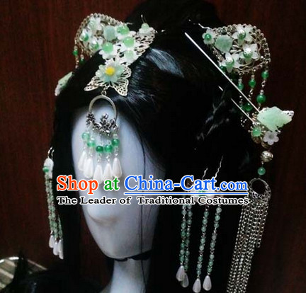 Ancient Chinese Princess Queen Wigs Toupee Wigs Human Hair Wig Hair Extensions Sisters Weave Cosplay Wigs Lace