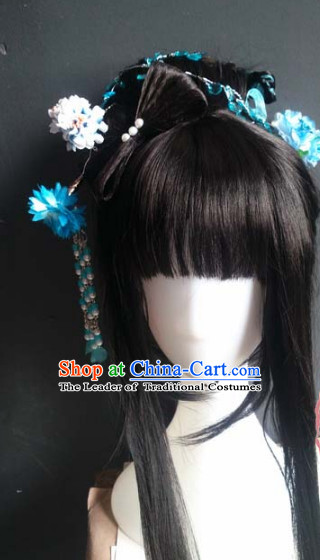 Ancient Chinese Fairy Queen Wigs Toupee Wigs Human Hair Wig Hair Extensions Sisters Weave Cosplay Wigs Lace