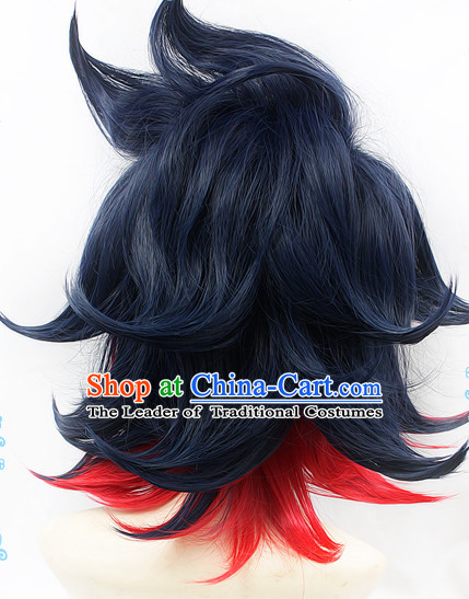Ancient Asian Korean Japanese Chinese Style Wigs Toupee Wig  Hair Wig Hair Extensions Sisters Weave Cosplay Wigs Lace for Men