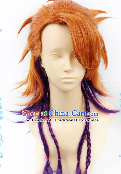 Ancient Asian Korean Japanese Chinese Wigs Toupee Wig  Hair Wig Hair Extensions Sisters Weave Cosplay Wigs Lace