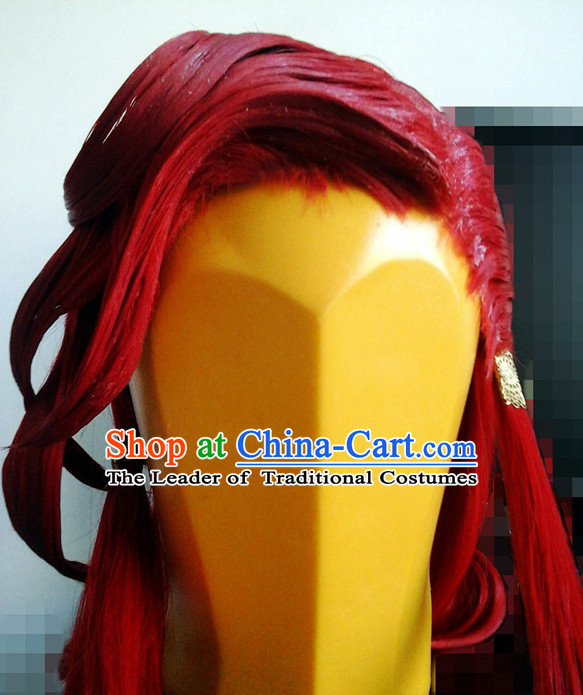 Ancient Asian Korean Japanese Chinese Style Male Wigs Toupee Wig Hair Extensions Sisters Weave Cosplay Wigs Lace for Men