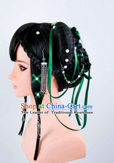 Ancient Chinese Heroine Wigs Toupee Wigs Human Hair Wigs Haircuts for Women Hair Extensions Sisters Weave Cosplay Wigs Lace Hair Pieces and Accessories for Women