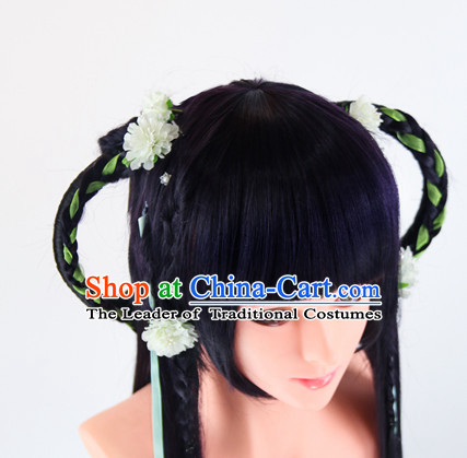 Ancient Chinese Fairy Wigs Toupee Wigs Human Hair Wigs Haircuts for Women Hair Extensions Sisters Weave Cosplay Wigs Lace Hair Pieces and Accessories for Women