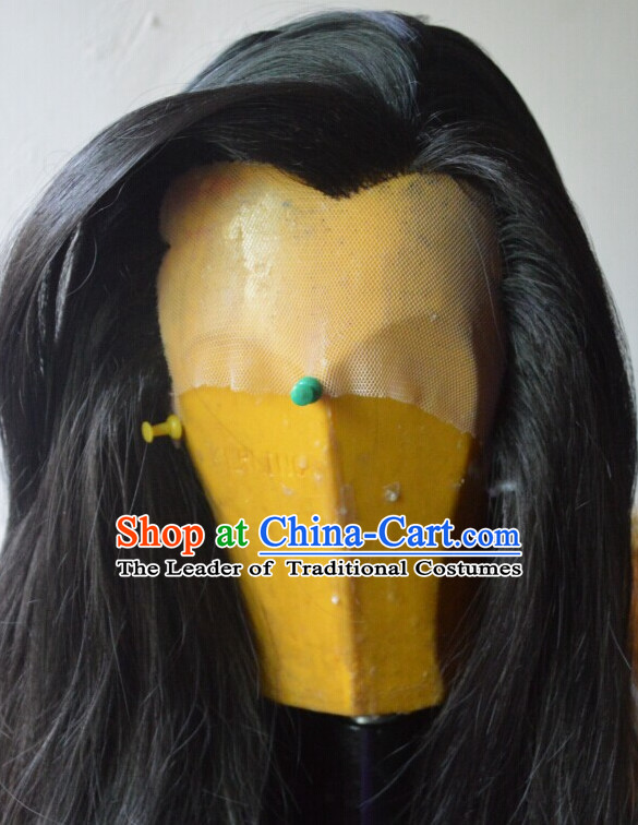 Ancient Chinese Long Wigs for Men Male Wigs Afro Wigs Hair Extensions Cheap Chinese Wigs Toupee Milky Way Hair Full Lace Brazilian Front Wig Weave online