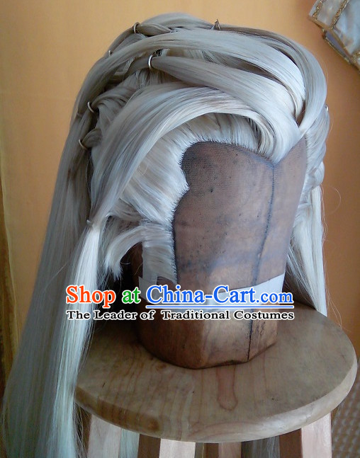 Ancient Chinese Style Full Wigs Hair Extensions Toupee Lace Front Wigs Remy Hair Sisters for Kids Men Women Hair Pieces Weave Hair Wig