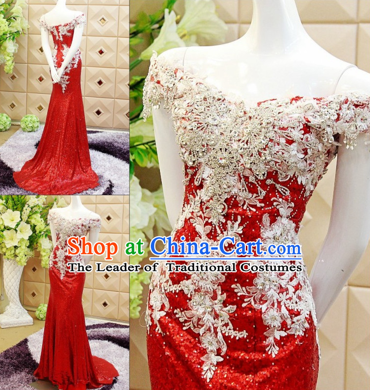 Amazing Chinese Sexy Wedding Evening Dress for Brides