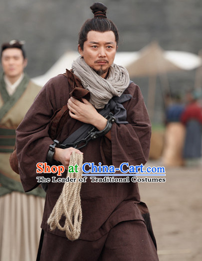 Ancient Chinese Hanfu Clothing Complete Set for Men