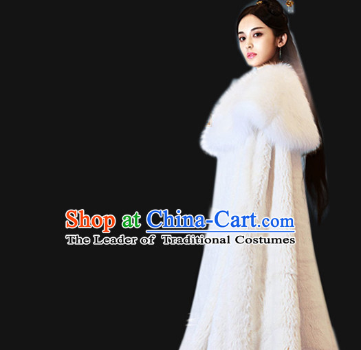 Ancient Chinese Winter Mantle Dress for Women