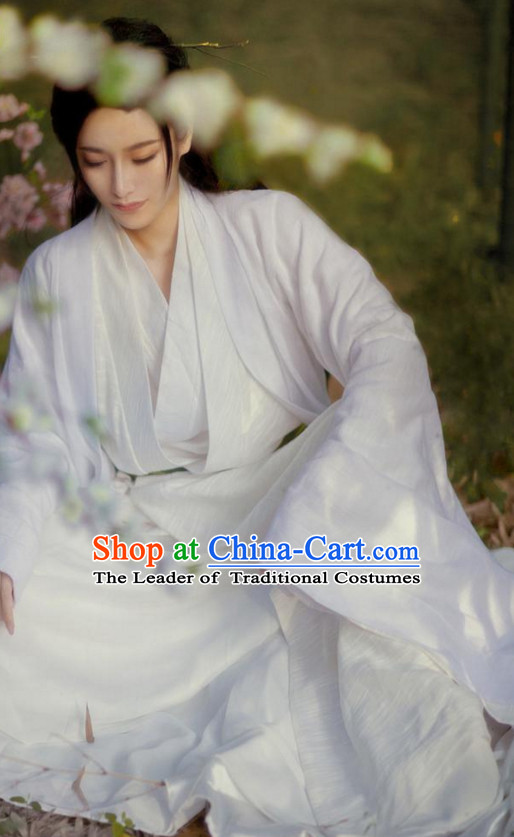 Traditional Chinese Poet Dress Costume Complete Set for Men