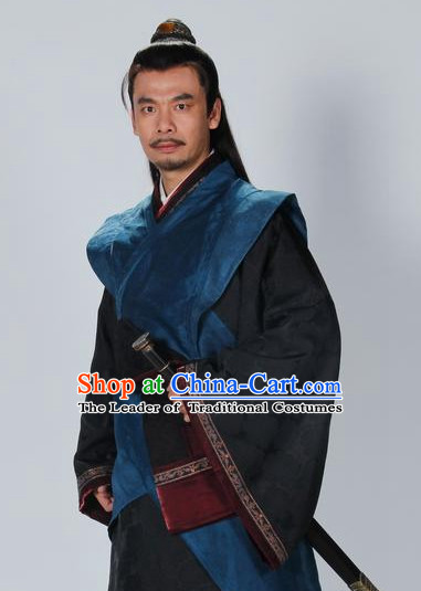 Chinese Classic Swordsman Garment Dress Costumes Japanese Korean Asian King Clothing Costume Dress Adults Cosplay for Men