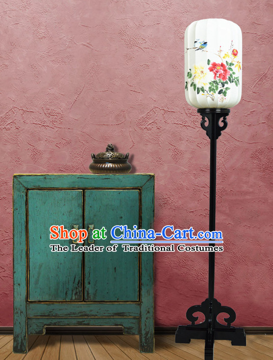 Handmade Traditional Hands Painted Palace Birds and Flower Floor Lantern